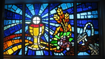 These 4 panels were built for the prayer room of Mary Help of Christians Church. Each panel is approx 18 square feet.