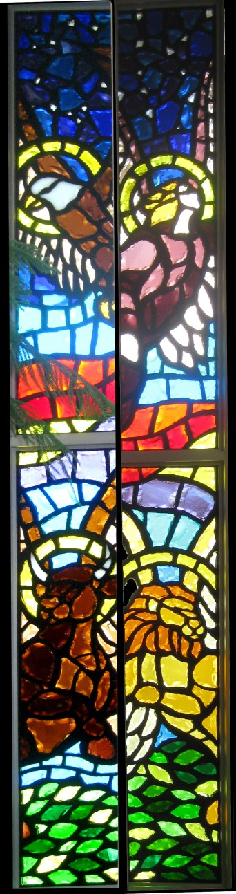 These 4 panels were also for Mary Help Of Christians. They are on either side of the alter and represent the 4 gospels.