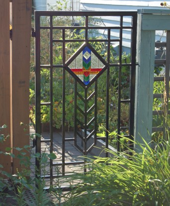 We built a couple of small prairie style panels for a couple of pretty neat iron gates.