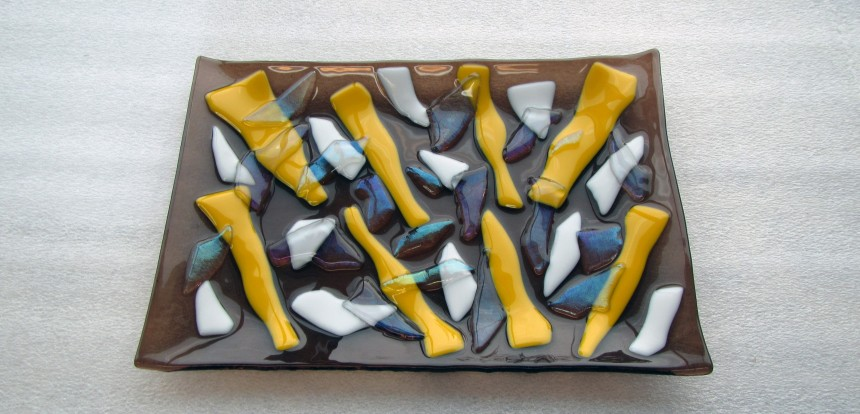 Fused Glass Mosaic Plate